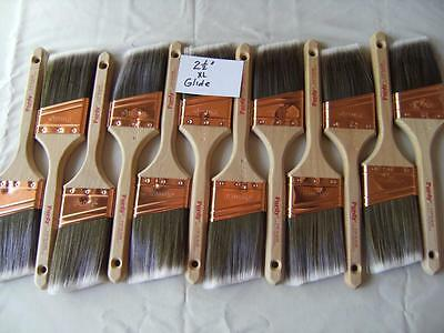 """PURDY paint brush lot of 12 XL Glide 2.5"""".  No covers.  New, Great buy! Limited."""