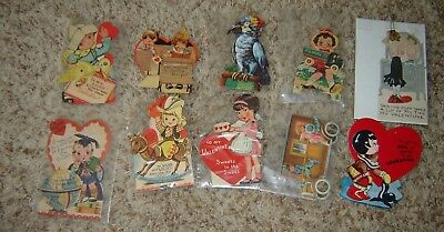 LOT S VINTAGE VALENTINE'S DAY MECHANICAL  CARDS large lot of 10