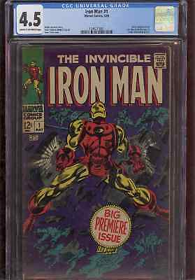 Marvel Comics Iron Man #1 CGC 4.5 FREE SHIPPING!