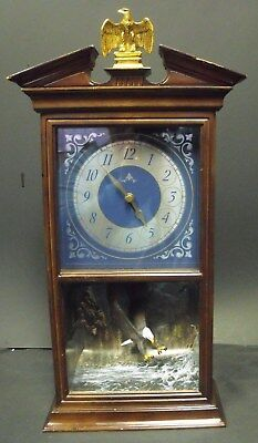 "Franklin Mint ""The Spirit of Freedom Eagle Wall Clock,"" 17.5"" Tall, Working"