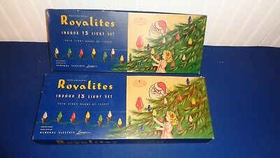 2 Very Nice Boxes of Royalites C-7 Some Inside Paint Bulbs