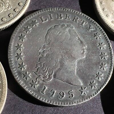 1795 FLOWING HAIR DOLLAR in 5 coin lot