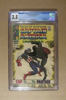 "Tales of Suspense #98 (1968) CGC 3.5...""cool"" Plack Panther cover by Jack Kirby!"
