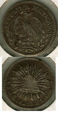 Mexico 1825 Om 1/2 Reale