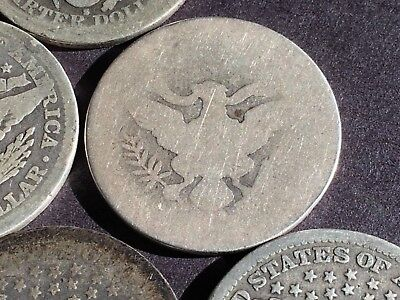 1901 S ( possibly ) BARBER QUARTER  in 6 coin lot