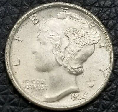 1934 Mercury Dime - **Full Split Bands** - US Coins [AK2131]