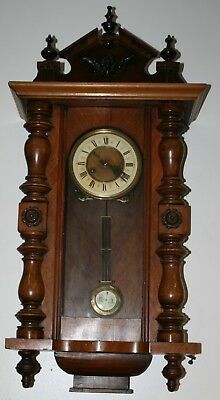 Large Antique Vienna Chiming Wall Clock for Parts Repairs or Restoration