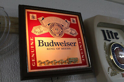 Vintage Budweiser Clydesdale Horse Team Beer Sign Anhueser Busch Rare Lighted