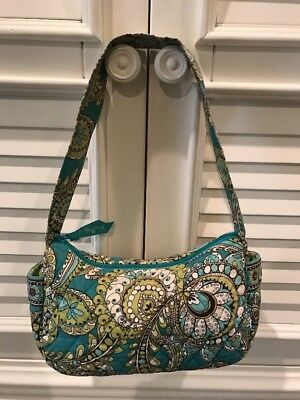 Vera Bradley Teal Small Hobo Shoulder Bag Purse Gently Used See Pictures