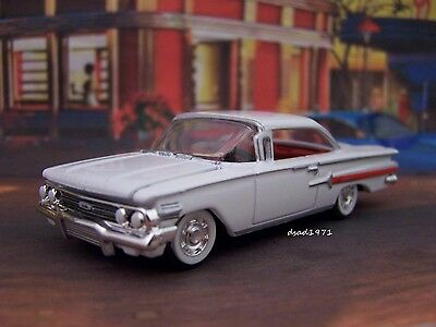 60 1960 Chevy Impala Coupe 1/64 Scale Collectible Diecast Model - Diorama