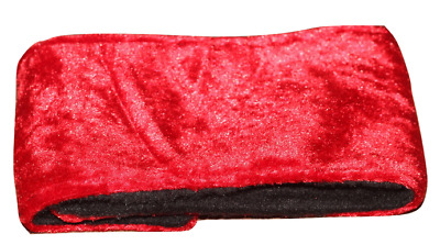 dog puppy male stud dog belly band wrap nappy red crushed velvet washable