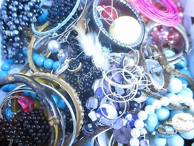Junk Drawer Jewelry Lot- Vintage-Now 2+ lbs, for wear repair parts and craft