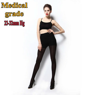 AU 2018 Medical Compression Stockings Pantyhose Waist High Support Closed Toe