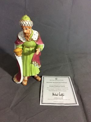 ROYAL DOULTON HOLIDAY TRADITIONS NATIVITY MELCHIOR FIGURE pr