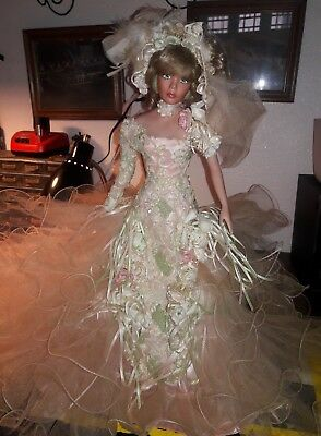 "2001 RUSTIE 0152/1000 BRIDE PORCELAIN WEDDING 20"" inch DOLL LIMITED EDITION"