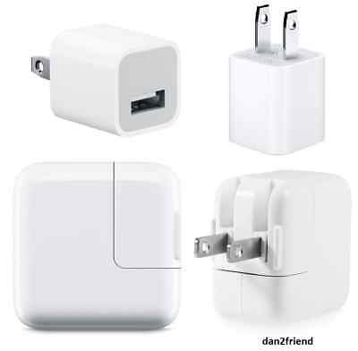 OEM Authentic Apple iPad Air 1/2/3 iPhone X 8 7 6S 5W/10W/12W Wall Charger Cube