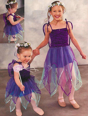 89781ee16685 Star Fairy Dance Costume Dress w/ Attached Wings Christmas Clearance Child  Large