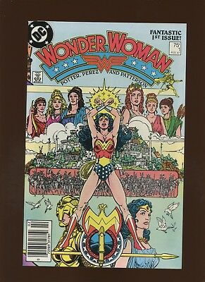 Wonder Woman 1 VF 8.0 * 1 Book Lot * Origin of Wonder Woman & The Amazons! Perez