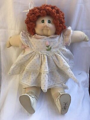 Little People Soft Sculpture Cabbage Patch Kid Xavier Roberts Red Hair Green Eye