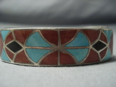 One Of The Oldest Inlay Turquoise Ingot Silver .999 Bracelet