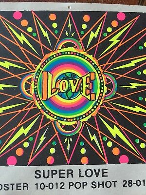 Vintage Peace Love 60's Sticker Decal Button Smiley Face 3 Piece Poster Pop Shot