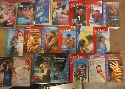 Lot of 100 Silhouette Romance Desire Suspense Special Intimate Book MIX UNSORTED