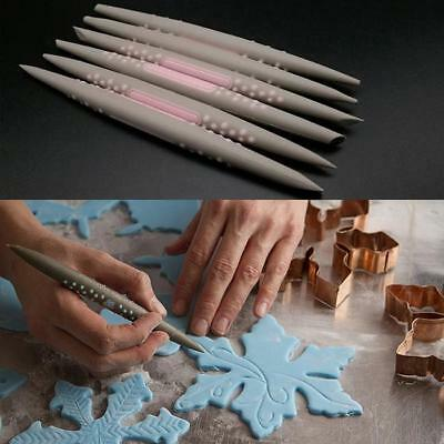 6Pcs Fondant Cake Soft Tip Shapers Flower Modelling Decorating Craft Clay Tool J