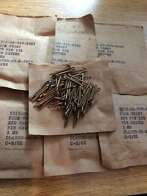 Cotter Pin 1/32 x 1 Brass plated (100 Pieces)