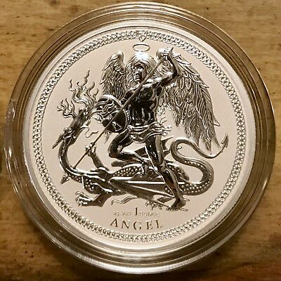 2017 Isle Of Man 1 oz .999 Silver Angel Reverse Proof Coin - ONLY 5,000 MINTED!