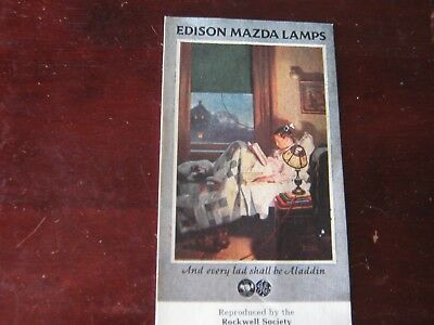 Vintage Edison Mazda Lamps Lithograph-Rockwell Society of America Reproduction