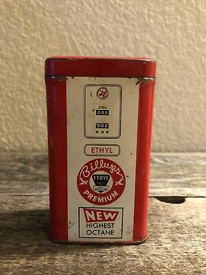 Rare BILLUPS Ethyl Premium Gasoline Promotional Miniature Gas Pump Bank