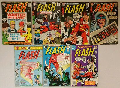 The FLASH # 156, 171, 190, 193, 244, 245, 247  Published By DC Comics 1960's