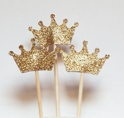 24SET Queen Crown Birthday Cupcake Toppers Party Shower Wedding Cake Decor New