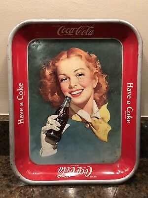 "Vintage Coca Cola serving tray  white glove ""Have a Coke"""