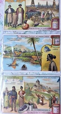 Lot Of 3 Antique Liebig French Victorian Trading Cards