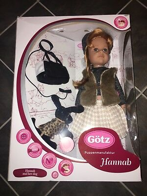 Gotz Hannah And Her Dog Doll Outfit Clothing Red Hair Black Puppy Hamdbag