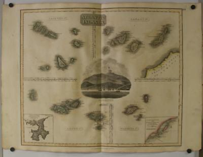 Canary Islands Azores Isles Madeira Capo Verde Islands 1814 Thomson Antique Map