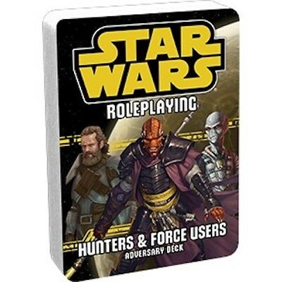 Star Wars RPG - Hunters and Force Users - Adversary Deck - Neu!