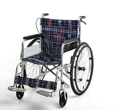 Folding Wheelchair Full Arms & Removable Footrest Drive Medical 4Wheels Steel