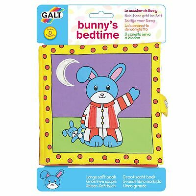 GALT Toys Childrens / Kids 8 Page Large Soft Book - Bunny's Bedtime - From Birth