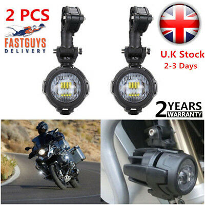 2 x Spot LED Auxiliary Fog Light Safety Driving Lamp Motorcycle for BMW R1200GS