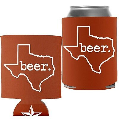 TEXAS BEER - Proud Texan Lone Star State Pocket Coolie Can Wrap Cooler - ... New
