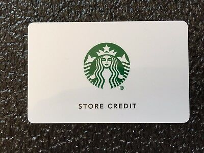 2015 New Starbucks Store Credit, Unique Card 6140
