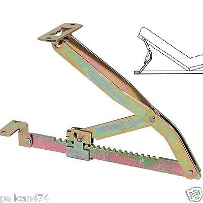 1x New adjustable bed lifting lid stay heavy duty ratchet max height 357mm metal