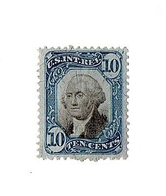 1871 10c U.S.A. Internal Revenue, Washington, Blue & Black Scott R109