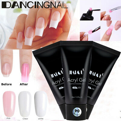 30ml Poly UV Gel Faux Ongle Construction Extension Manucure Moule Tips Nail Art