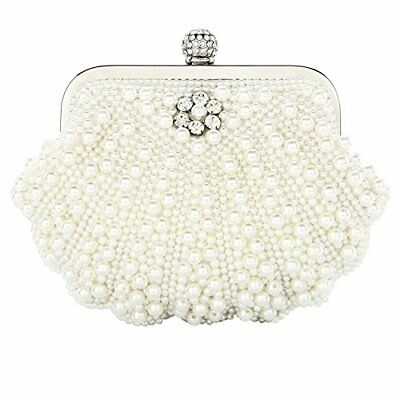 Womens Wallet Crystals Beaded Pearl Clutch Bag Fashion Handmade Luxury Purse