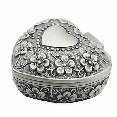 AVESON Classic Vintage Antique Heart Shape Jewelry Box Ring Small Trinket Chest