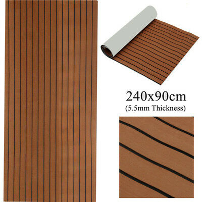 240 X 90cm Boat Teak Flooring Marine Decking Self Adhesive EVA Foam Sheet Brown