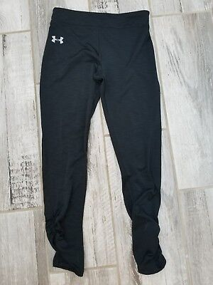 UNDER ARMOUR Black Baselayer running pants leggings Girls YMD Youth Medium 10-12